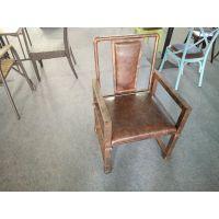倍斯特现代中式铁艺金属餐椅火锅系列怀旧工业风餐椅厂家热销