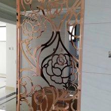 高档酒店大堂背景铝艺雕花屏风装饰 艺术铝板镂空隔断实图拍摄