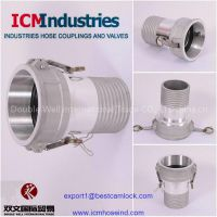 Composite hose couplings and ferrules