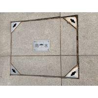 深圳中创华建厂家直销全套304不锈钢边框加铁底板喷漆隐形方形装饰井盖
