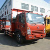 批发1.8L蓝牌小挖机拖车凯马拉80挖机的平板拖车