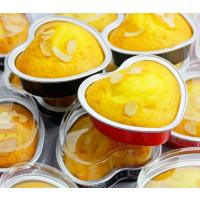 亚虹铝箔航空一次性餐盒外卖食品容器包装烘烤心形10套带盖
