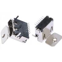 HDMI高清接口 A型USB DIP插板 19P母座 三排针单耳带螺丝孔 PCB-创粤