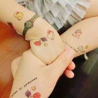 儿童纹身手臂贴纸 ins婴儿宝宝儿童卡通防水洗纹身贴