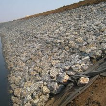 堤坝石笼网 控制河流灾害网箱 石头网垫