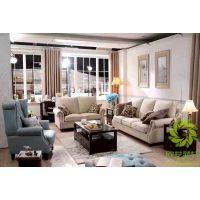欧艺菲轩OEFASHION实木组合田园风格客厅沙发定做OEMS001 小套房客厅家具