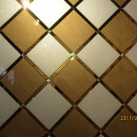 电视背景墙 高档艺术玻璃定制拼镜系列