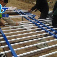 加工定做锌钢护栏网 蓝白组装方管栏杆 小区栏栅厂家直销