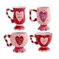 创意个性情侣杯可爱咖啡高脚水马克手绘杯子陶瓷520情人节送礼物