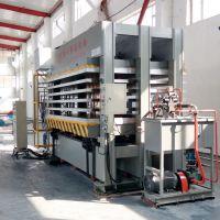 天津芳纶纸蜂窝芯复合板压机生产线设备 青岛国森机械 纸蜂窝板压机