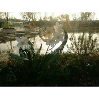 【佳吉鑫园林雕塑】不锈钢仿真植物树叶花朵雕塑 园林花园草地不锈钢公园软装雕塑小品摆件