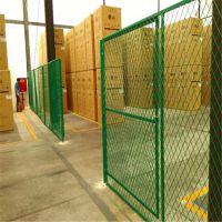 【专业厂家】热镀锌车间隔离网 浸塑仓库隔离栅 分区栅栏