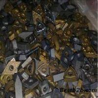厦门烧下来钨钢刀头回收,废旧硬质合金刀片回收,铣刀粒回收