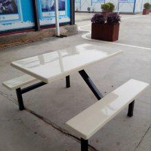 4人饭堂餐桌厂家直销饭堂玻璃钢餐桌价格实惠