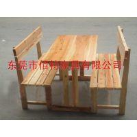 直销桌子防腐实木桌椅 碳化木花园实木桌椅 咖啡厅实木桌椅