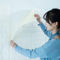 3D砖纹立体墙贴装饰电视背景墙防水墙纸自粘瓷砖贴纸壁纸