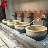 热卖酒店洗浴中心泡澡缸陶瓷大缸日本极乐汤1.1米温泉澡堂独立式
