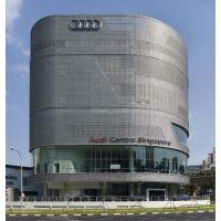 安徽芜湖市一汽奥迪展厅装修六边棱形穿孔凹凸铝单板集团旗下指定厂家