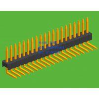 1.27mm间距单排排针90度弯插板系列