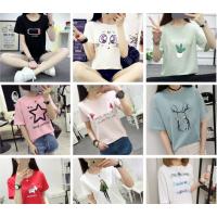 2018新款韩版短袖T恤女装夏季女士大码半袖打底衫女式印花短袖T恤