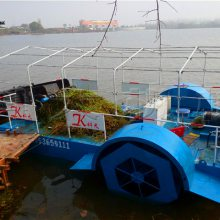武汉收割浮萍设备 打捞粉碎水草船效率