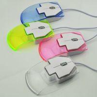 鼠标批发 可爱七彩箭头透明有线鼠标发光电脑鼠标 笔记本光电鼠标