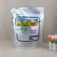 东莞厂家定做3L液体肥料壶嘴袋/复合材质4升水溶肥铝箔包装袋定制