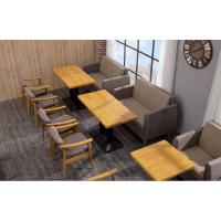 倍斯特现代中式原木色经典餐厅实木餐桌日韩料理奶茶餐桌厂家定制
