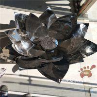  不锈钢莲花雕塑 小区不锈钢水景雕塑效果图