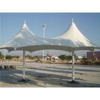 钢结构加工停车棚PVDF景观张拉膜布加工遮阳雨蓬布批发膜结构安装