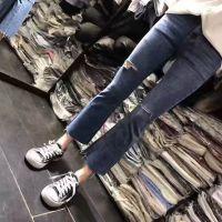 女装牛仔裤修身百搭工厂清仓处理便宜批发货源