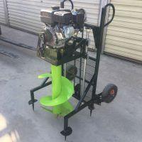 四轮车载挖坑机多少钱 农林种植钻眼机 大棚埋桩打坑机批发