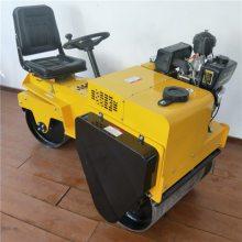 山东驾驶型双钢轮压路机 自行式压土机转向灵活操作简单