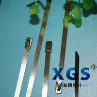 新固304不锈钢扎带 船用扎带 金属扎带 厂家(XGS-4.6X100MM)100条/包