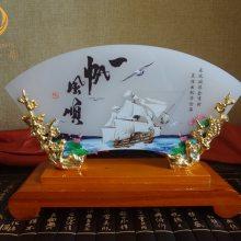 一帆风顺玉石摆件,西安战友聚会礼品,同学联谊会纪念品,玉石商务摆件
