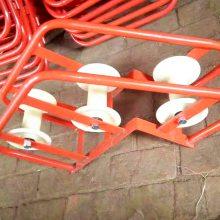 电缆直线滑轮 三轮转角电缆滑轮 尼龙放线滑车 洪涛电力
