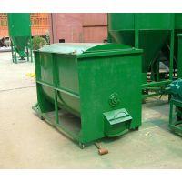 思路供应电动饲料加工设备 卧式畜牧养殖草粉饲料混合机 0.5吨卧式搅拌机价格