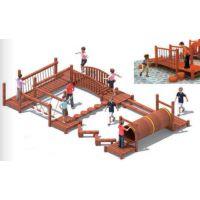户外大型幼儿园攀爬组合 体能组合 钻爬箱