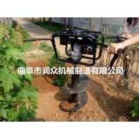手拉启动挖坑机的直径 可以单双人的打眼机 地钻机 润众
