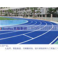 全塑型塑胶跑道材料生产厂家 运动跑道场地工程费用