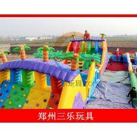 攀枝花儿童游乐设备户外大型儿童充气大滑梯款式新颖颜色亮丽蹦蹦床价格