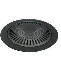 韩式烤肉盘 野外户外卡式炉烧烤盘 圆形便携不粘锅铁板烧盘 现货