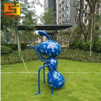 辰佳现货玻璃钢彩绘蚂蚁雕塑摆件 户外园林景观动物小品雕塑 公园绿地 房地产装饰摆件