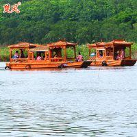 【兴化楚风】出售景区私人定制 电动旅游船 观光画舫船 餐饮船 休闲木船