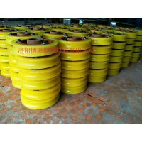 洛阳博胜厂家直销矿井猴车单托轮|双托轮轮衬|聚氨酯猴车配件产品。