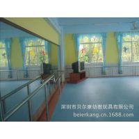 广东贝尔康供应 PVC地板塑 胶防静电运动地板 防滑耐磨卷材地面 批发地面工程