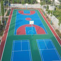 东莞彩色球场铺设 硬地丙烯酸涂料与地坪漆涂料那个更耐用 柏克承担施工篮球场工程