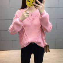 广州便宜毛衣服装批发韩版时尚女士毛衣羊毛衫清仓低价清货处理