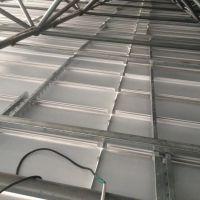 加油站罩棚300宽防风铝条扣吊顶内部安装结构图