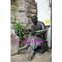 中山玻璃钢喝茶人物雕塑茶文化雕塑民俗文化摆件